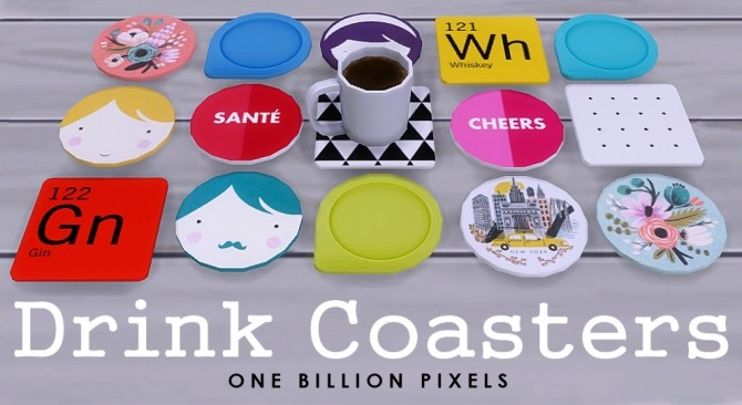 Coaster Drinks by NewOne at One Billion Pixels image 8410 670x366 Sims 4 Updates