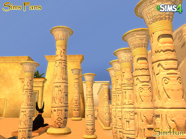 Sims 4 Egyptian Stuff by Sim4fun at Sims Fans