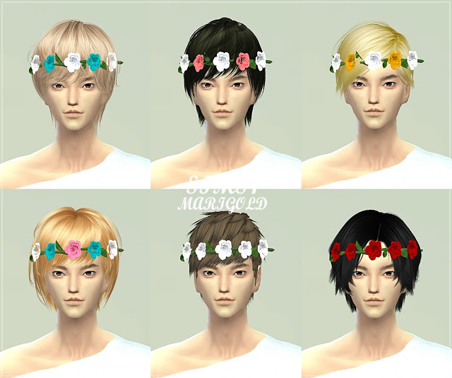 Male rose crown at Marigold image 847 Sims 4 Updates