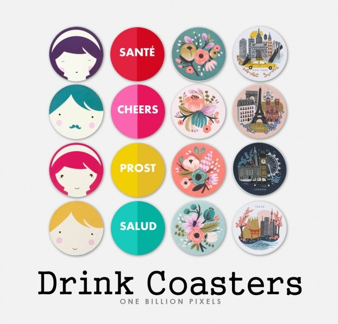 Coaster Drinks by NewOne at One Billion Pixels image 8511 670x643 Sims 4 Updates