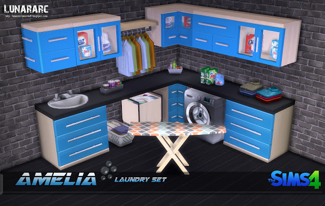 Sims 4 Amelia Laundry Set at Lunararc
