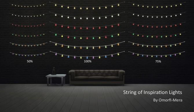 Sims 4 String of Inspiration lights at Omorfi Mera