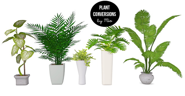 Sims 4 Plant conversions II at MIO