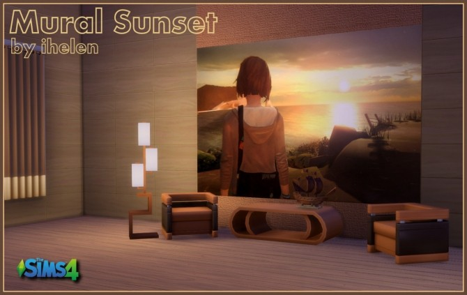 Mural Sunset at ihelensims image 862 670x423 Sims 4 Updates