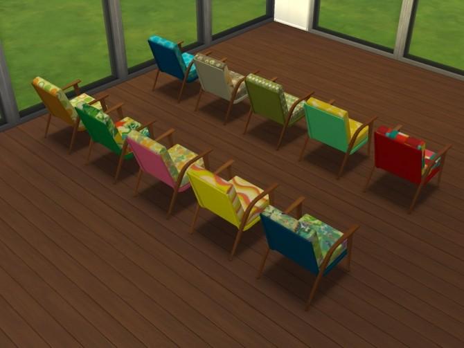 Sims 4 60s chair recolors at Un bichobolita
