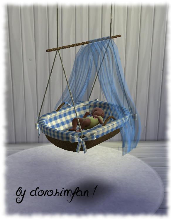 Sims 4 Hanging cradle for babies by dorosimfan1 at Sims Marktplatz