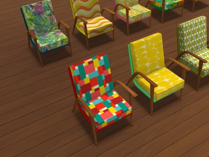 60s chair recolors at Un bichobolita image 893 670x503 Sims 4 Updates