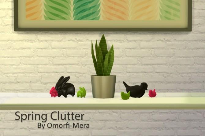 Sims 4 Spring clutter at Omorfi Mera
