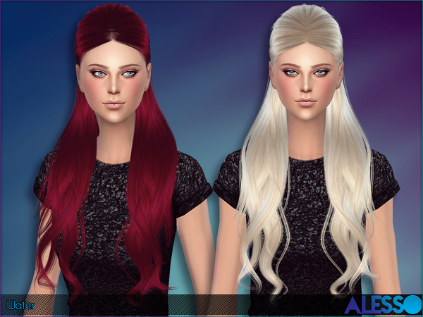 Water Hair by Alesso at TSR image 9100 Sims 4 Updates