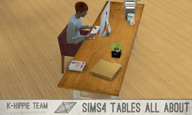 Sims 4 7 Archi Tables volume 1 at K hippie