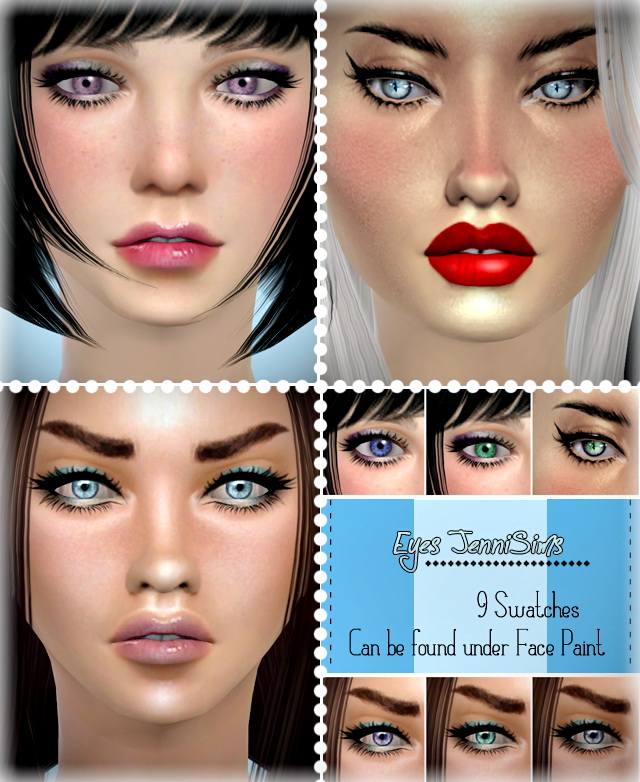 Actual Eyes FacePaint 9 Swatches at Jenni Sims image 936 Sims 4 Updates