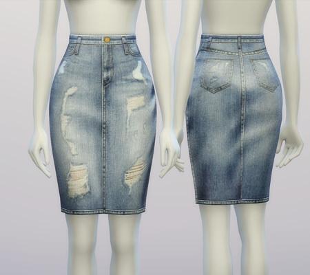 Denim Skirt At Rusty Nail 187 Sims 4 Updates