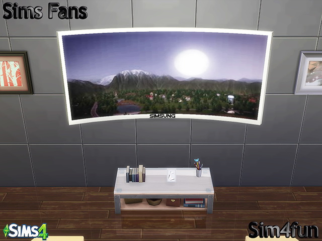 Sims 4 Simsung HD 4K Curved TV by Sim4fun at Sims Fans