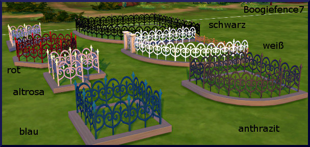 Sims 4 Boogie Zaun fence by Christine1000 at Sims Marktplatz
