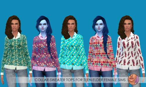 Sims 4 Tops, tees and shorts at Erica Loves Sims