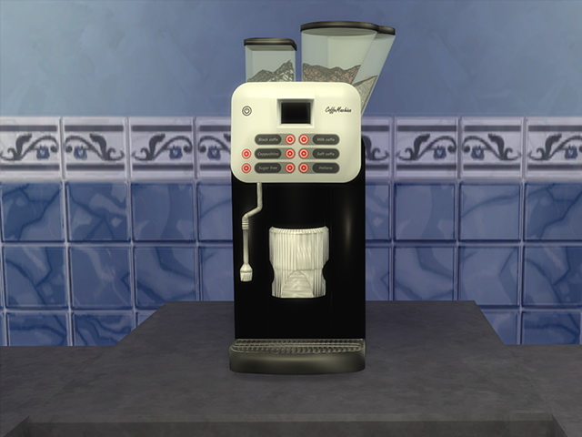 Sims 4 Coffee Machine by Kresten 22 at Sims Fans