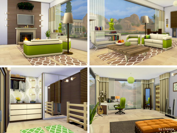 Eco Line 1.0 house by Lhonna at TSR image 970 Sims 4 Updates