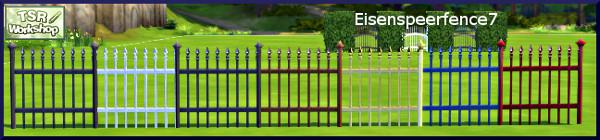 Sims 4 Eisenspeer Zaun fence by Christine1000 at Sims Marktplatz