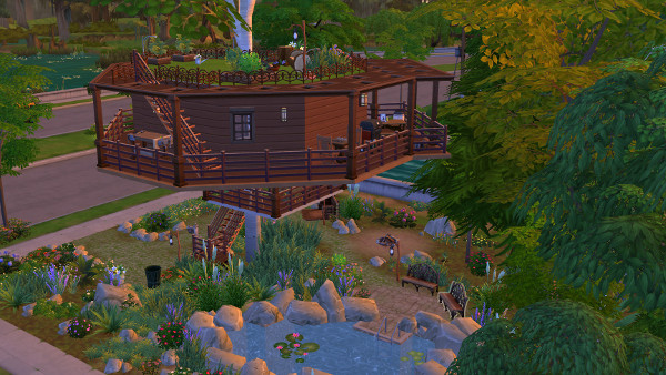 Sims 4 Tree house by juru88 at Sims Marktplatz