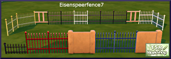 Eisenspeer Zaun fence by Christine1000 at Sims Marktplatz image 9815 Sims 4 Updates