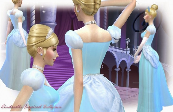 Cinderella Inspired Ballgown At Mythical Sims 187 Sims 4 Updates