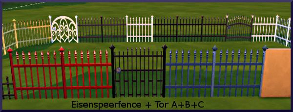 Eisenspeer Zaun fence by Christine1000 at Sims Marktplatz image 9916 Sims 4 Updates