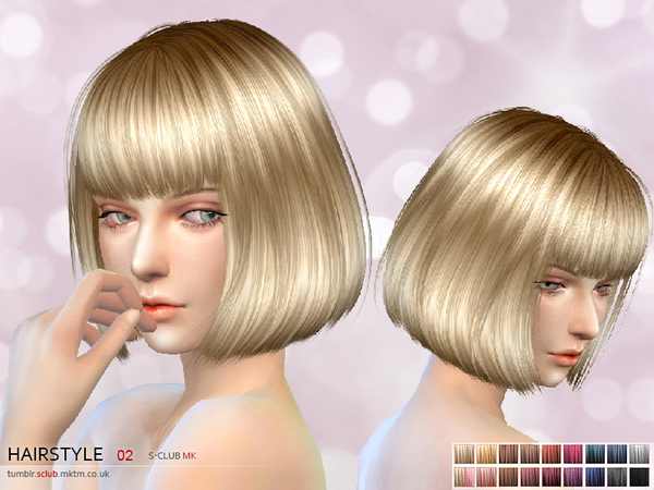 Hair #2 by S Club MK at TSR image 1 Sims 4 Updates