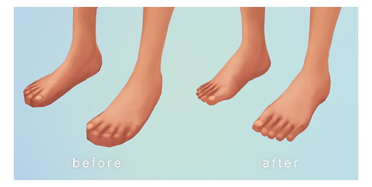 Sims 4 Bare paws at Chisami