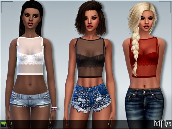 Sims 4 S4 Romantica Tops by Margeh 75 at TSR