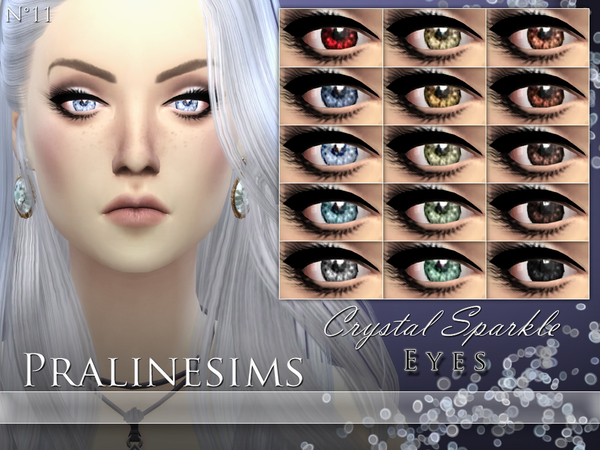 Sims 4 Crystal Sparkle Eyes by Pralinesims at TSR