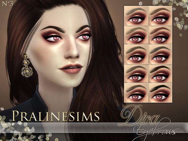 Sims 4 Diva Eyebrows by Pralinesims at TSR