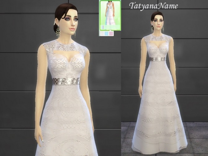 Malvina dress at Tatyana Name image 10221 670x503 Sims 4 Updates
