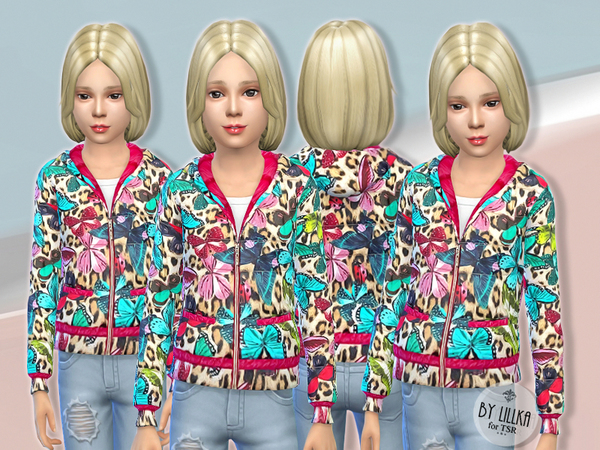 Sims 4 Butterfly Jacket by lillka at TSR