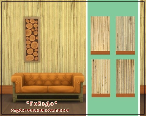 Sims 4 Bamboo mat walls at Sims by Mulena