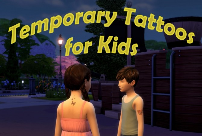 Sims 4 Temporary Tattoos for Kids by scumbumbo at Mod The Sims