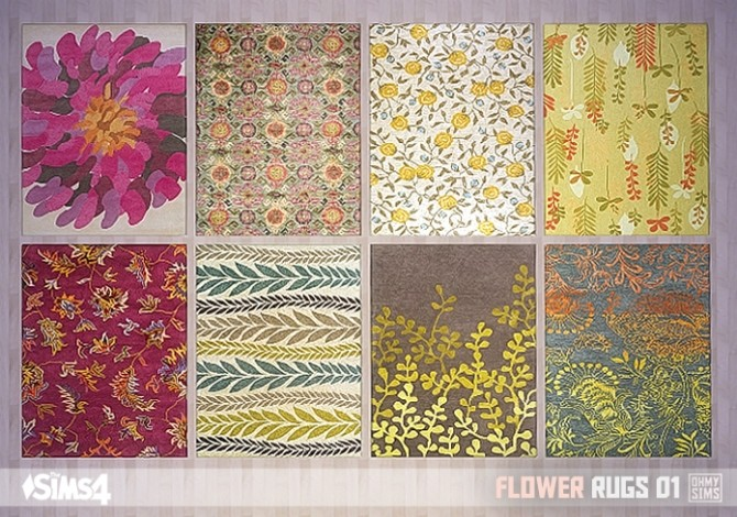 Flower Rugs 01 At Oh My Sims 4 187 Sims 4 Updates