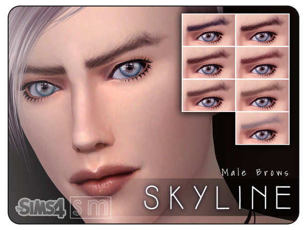 Skyline Male Brows by Screaming Mustard at TSR image 1048 Sims 4 Updates
