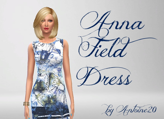 Anna Field Dress by Antoine20 at Sims Fans image 10511 Sims 4 Updates