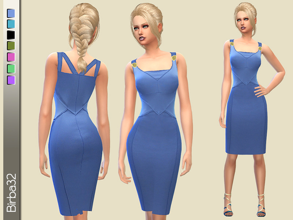 Bluette Pencil Dress by Birba32 at TSR image 10571 Sims 4 Updates