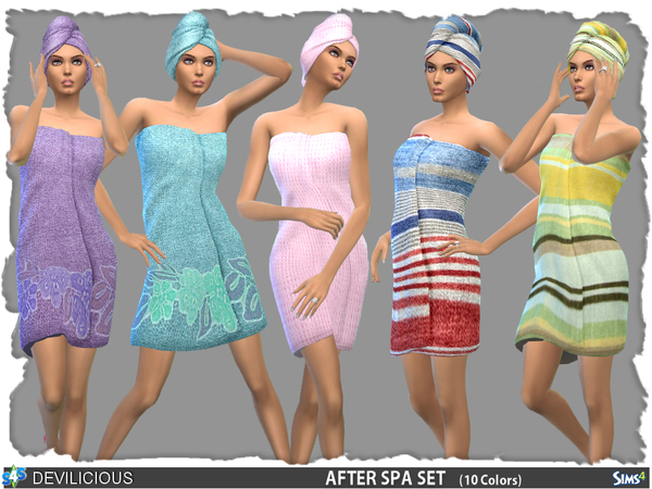 Sims 4 After Spa Towel and Towelwrap set by Devilicious at TSR