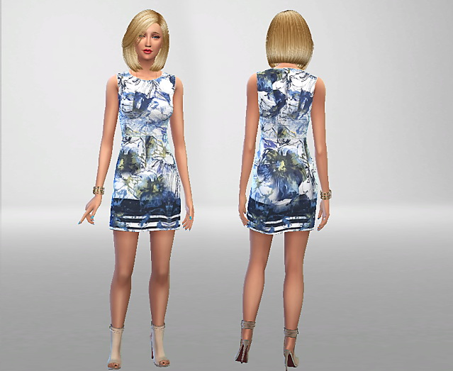 Anna Field Dress by Antoine20 at Sims Fans image 10612 Sims 4 Updates