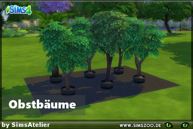 Sims 4 Fruit Trees by SimsAtelier at Blacky's Sims Zoo