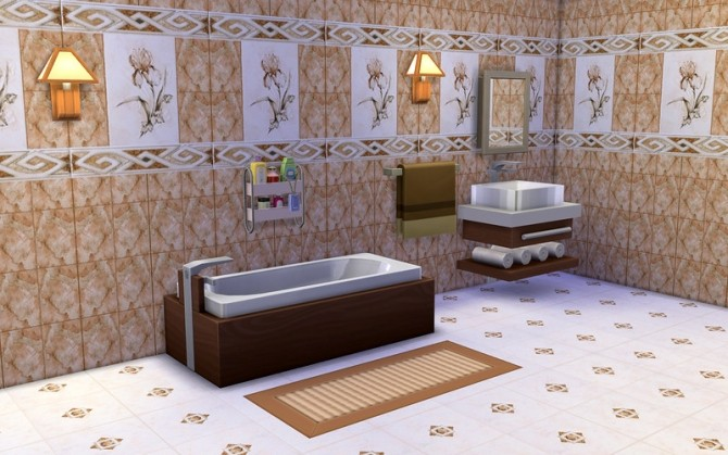 Sims 4 Tile Prado Walls & Floor at ihelensims