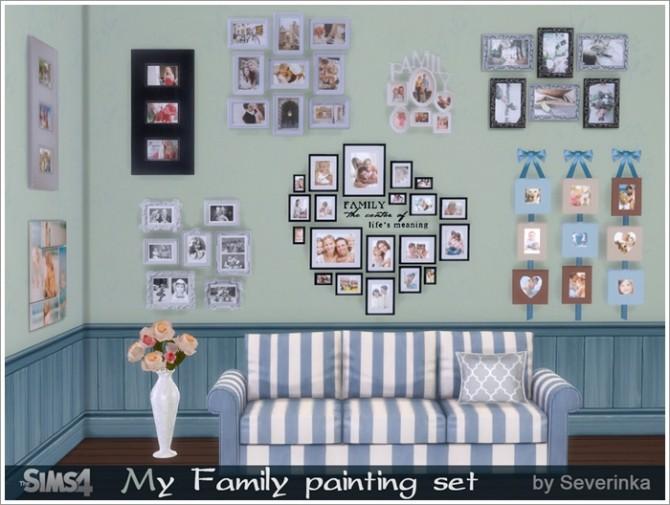 Sims 4 My Family painting set at Sims by Severinka