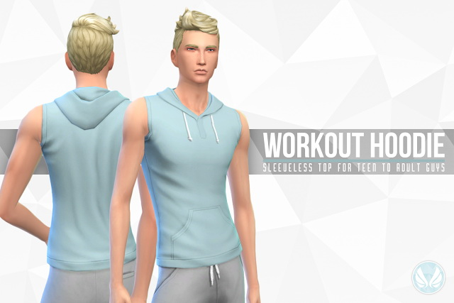 Sims 4 Workout Hoodie by Peacemaker IC at Simsational Designs