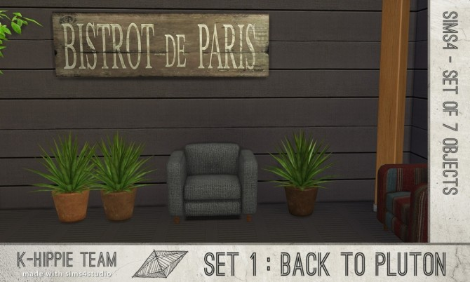 Sims 4 Set number 1 Back to Pluton at K hippie