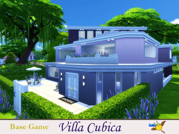 Sims 4 Villa Cubica by evi at TSR