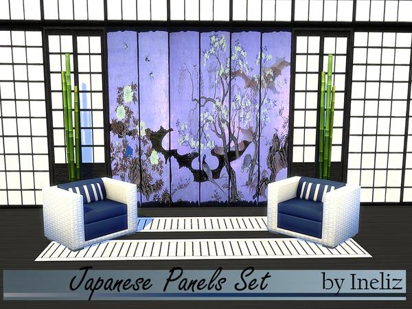 Japanese Panels Set by Ineliz at TSR image 11115 Sims 4 Updates