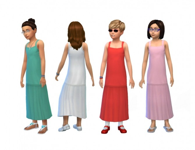 Long Dress for Children by plasticbox at Mod The Sims image 11116 670x515 Sims 4 Updates