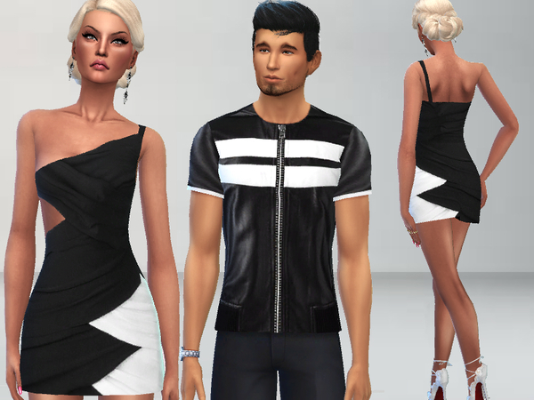 Black and White Outfits by Puresim at TSR image 1113 Sims 4 Updates